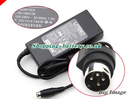 United Kingdom ACBEL PA-1900-05 adapter, 19V 4.74A PA-1900-05 Notebook adaptor, LITEON19V4.74A90W-4PIN