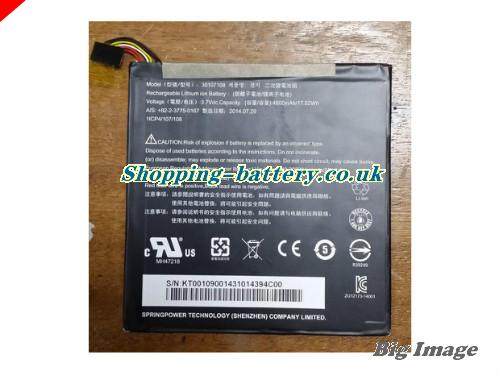 Acer 30107108 Battery 4600mAh, 17.02Wh  3.7V Black Li-Polymer