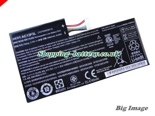 Acer 1ICP56080-2 Battery 4960mAh, 18.6Wh  3.75V Balck Li-ion