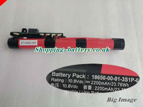 ACER 186500002043S1P0 Battery 2200mAh, 23.76Wh  10.8V Black Li-ion