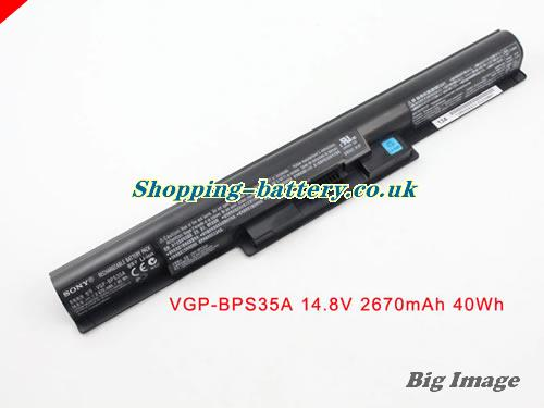 SONY VGP-BPS35A Battery 2670mAh, 40Wh  14.8V Black Li-ion