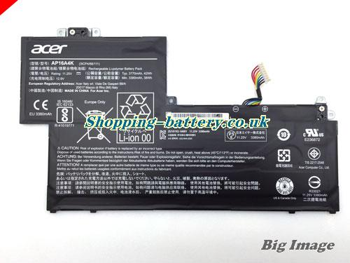 ACER 3ICP468111 Battery 3770mAh, 42Wh  11.25V Black Li-Polymer