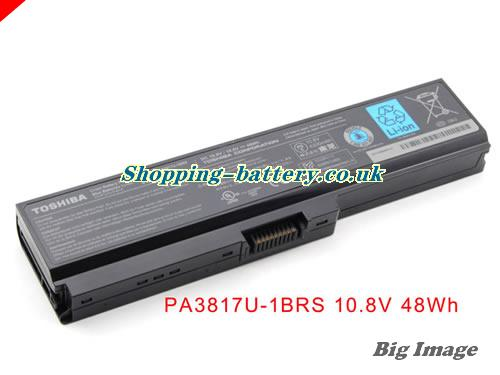 TOSHIBA L600-71B Battery 4400mAh 10.8V Black Li-ion