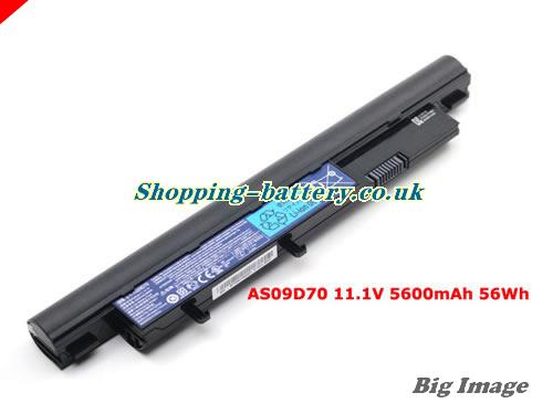 ACER 3810 Battery 5600mAh 11.1V Black Li-ion