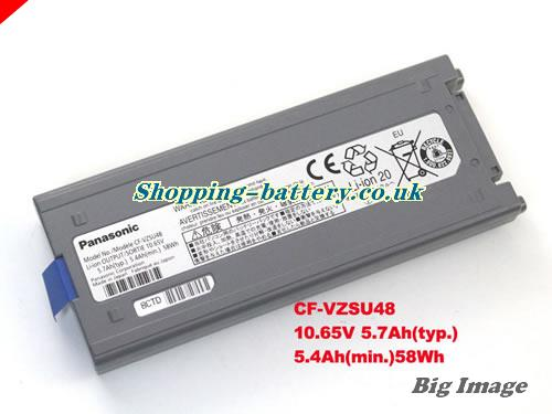 PANASONIC TOUGHBOOK CF-VZSU48U Battery 5700mAh, 58Wh , 5.7Ah 10.65V Grey Li-ion