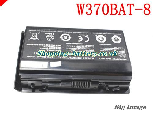 CLEVO W370BAT-8 Battery 5200mAh, 76.96Wh  14.8V Black Li-ion