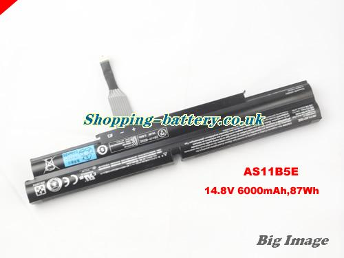 ACER AS11B5E Battery 6000mAh, 87Wh  14.8V Black Li-ion