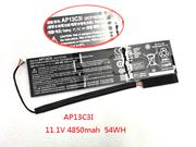 Replacement ACER 3ICP7/67/90 battery 11.1V 4850mAh, 54Wh  Balck