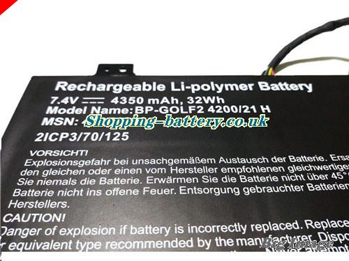 image 2 for 2ICP3/70/125 Battery, UK rechargeable 4350mAh, 32Wh  2ICP3/70/125 Batteries