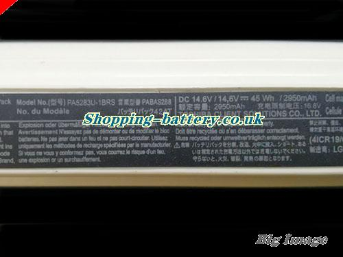 image 2 for Li-ion TOSHIBA PA5265U-1BRS PA5247U-1BRS Battery 2900mAh