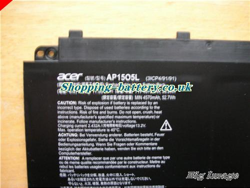 image 2 for 3ICP4/91/91 Battery, UK Rechargeable 4670mAh, 53.9Wh  Acer 3ICP4/91/91 Batteries